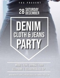 Denim Club Party Flyer Template