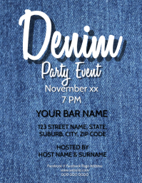 Denim Party Event Flyer Template