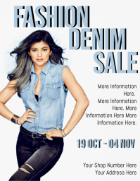 Denim Sale Flyer Template