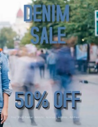 Denim Sale Video Flyer Template