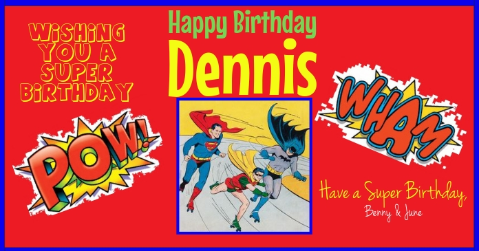 Super Hero Birthday for facebook