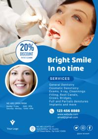 Dental advertisement flyer A4 template