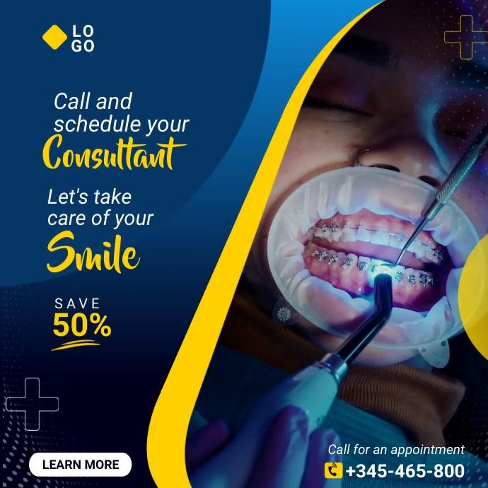 Dental care Message Instagram template