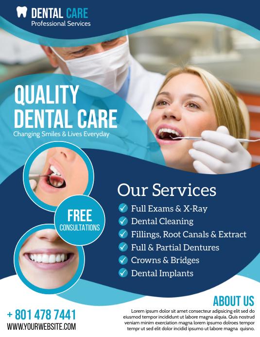Dental Care Folheto (US Letter) template