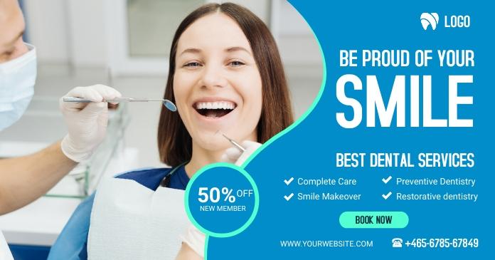 dental care Gambar Bersama Facebook template