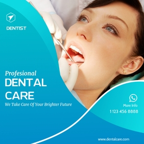 Dental Clinic Banner Template Instagram-Beitrag