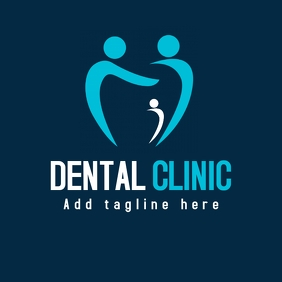 Dental clinic blue logo