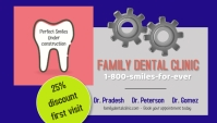 dental clinic business card/dentist/dentistry template