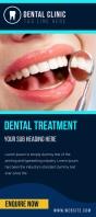 Dental clinic flyer Rack Card template