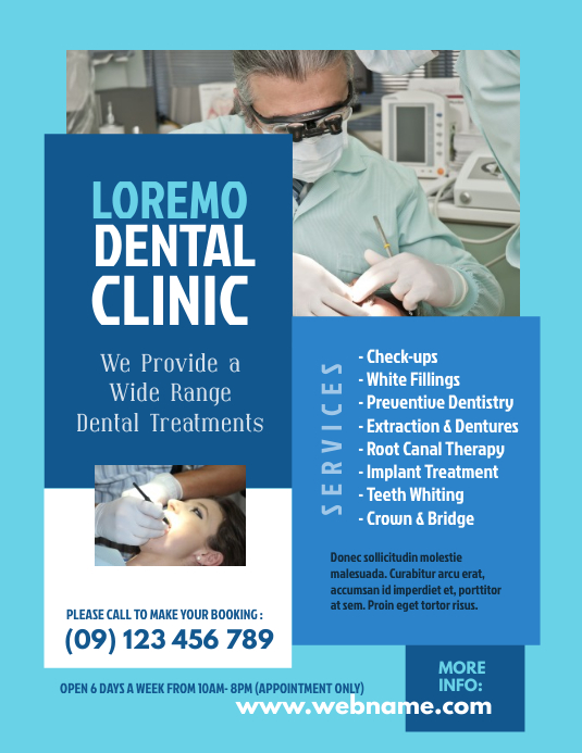 Dental Clinic Flyer Template - 02
