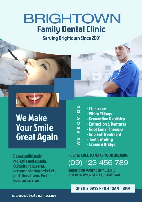 Dental Clinic Flyer Template