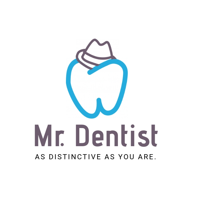 Dental clinic Logo with a tooth in hat