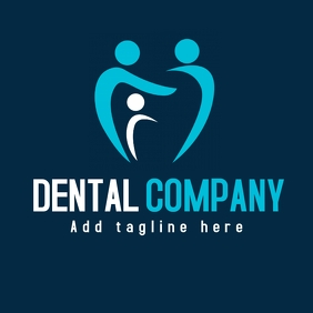 Dental company blue logo