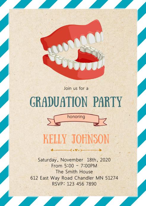 Dental graduation party invitation