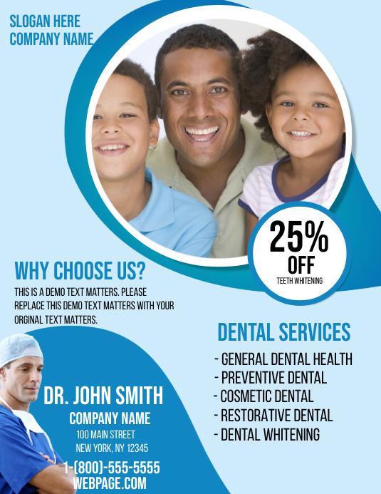 Dental Health 传单(美国信函) template