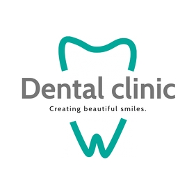 Dental Logo with one tooth and title