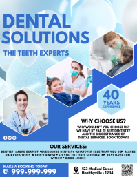 Dental Solutions Poster Flyer (US Letter) template