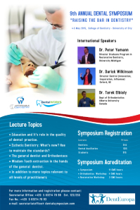 Dental Symposium Poster
