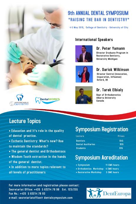 dental symposium poster template