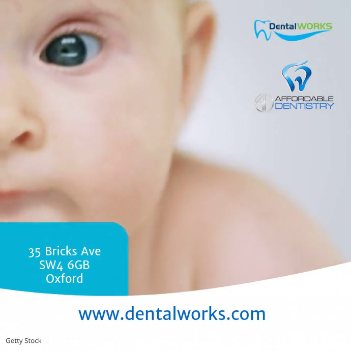 Dental Works Instagram Instagram-bericht template