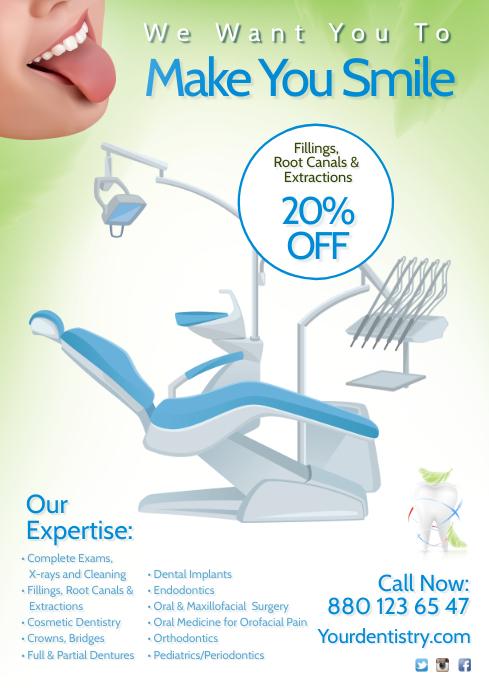 Dentist Flyer A4 template
