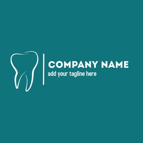 Dentist logo green background โลโก้ template