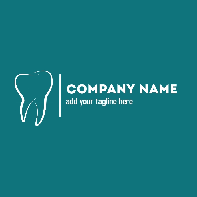 Dentist logo green background Logotipo template