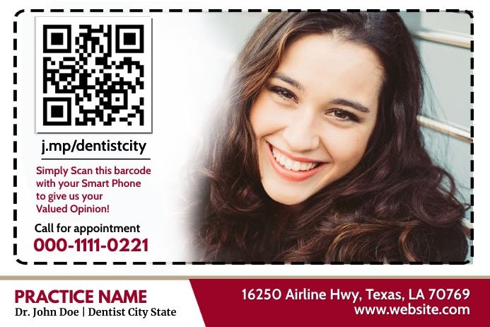 Dentist QR Label template