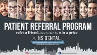 Dentist Referral Card Визитная карточка template