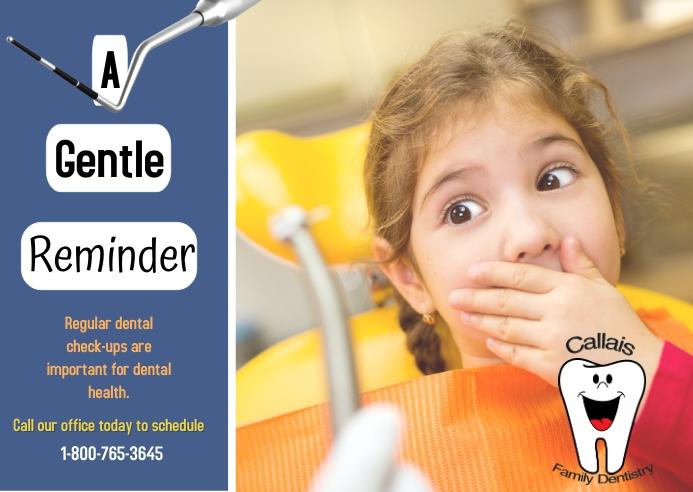 dentist reminder/clinic/dental/exam/office Poskaart template