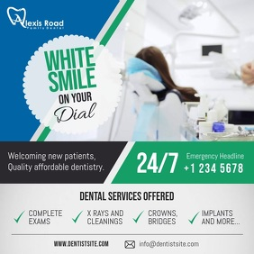 Dentist Services Ad Square Video template