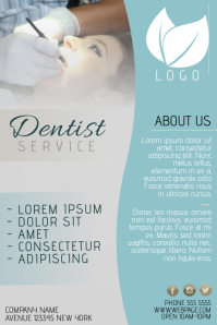 dentist small business flyer template