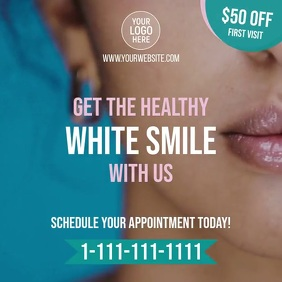 Dentist Smile Clinic Instagram Post template