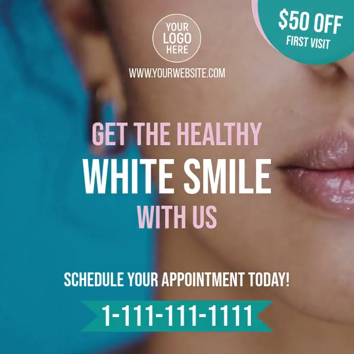 Dentist Smile Clinic โพสต์บน Instagram template
