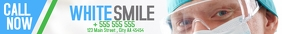 Dentist White Smile leaderboard design Førertavle template