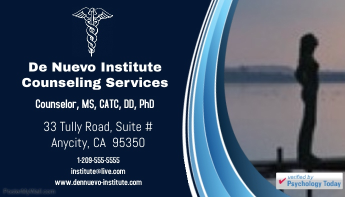 DeNuevo Institute Business Card