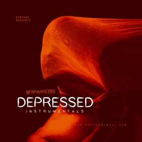 Depressed Mixtape Music Cover Sampul Album template