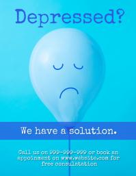 Depression Flyer (US Letter) template