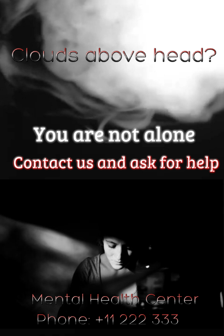 Depression Poster Template | PosterMyWall