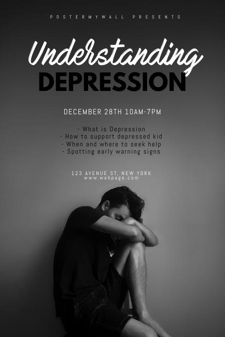 depression Seminar flyer design template