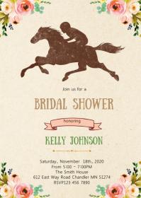 Derby bridal shower invitation