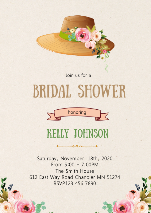 Derby bridal shower party invitation