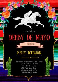 Derby de mayo theme invitation