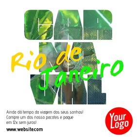 Descubra Carnaval Rio de Janeiro Vídeo Quadrat (1:1) template