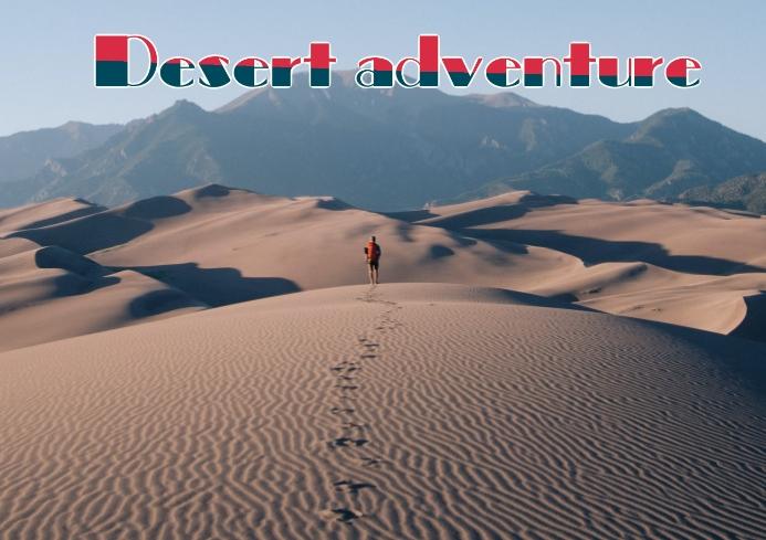 DESERT ADVENTURE A4 template