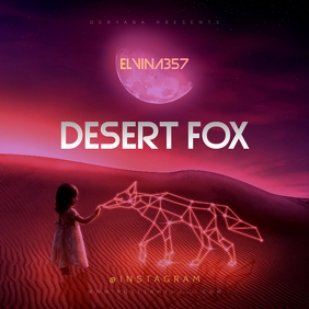 Desert Fox Cd Cover Template