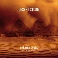 Desert Storm Pyramids Sand CD Cover Template