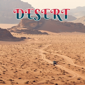 DESERT TOUR COVER Albumcover template