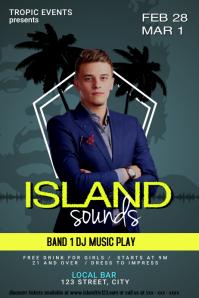 Island Night Club Event Poster (#MDsgn)