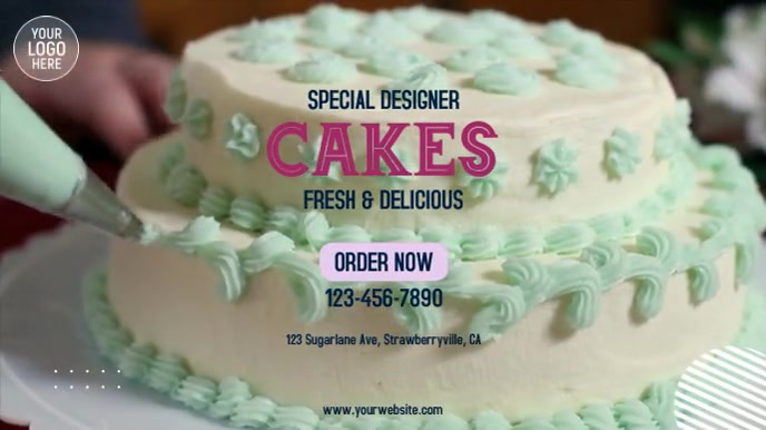 Designer Cakes Digitalt display (16:9) template